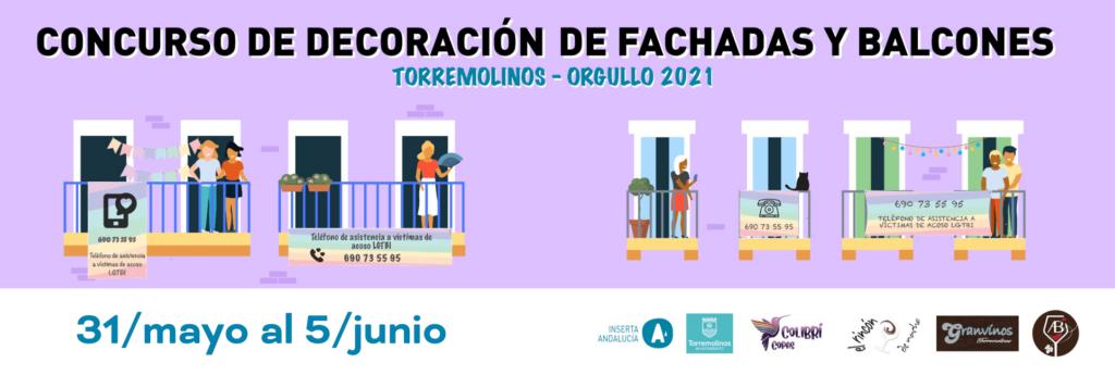Concurso de decoración de Fachadas y Balcones. Torremolinos Orgullo 2021
